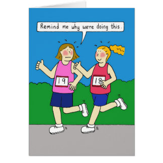 Women jogging card