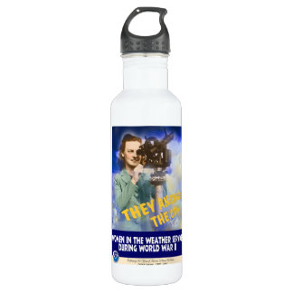 Women Joining the Weather Service WWII 710 Ml Water Bottle