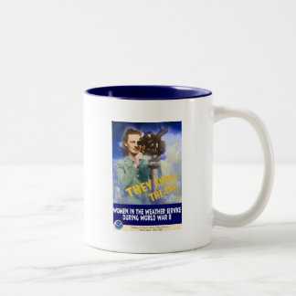 Women Joining the Weather Service WWII Coffee Mugs