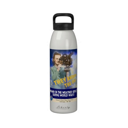 Women Joining the Weather Service WWII Water Bottle