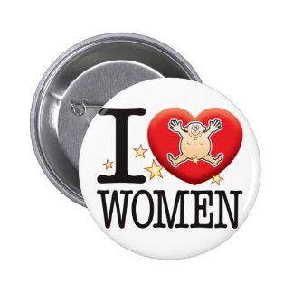 Women Love Man 6 Cm Round Badge
