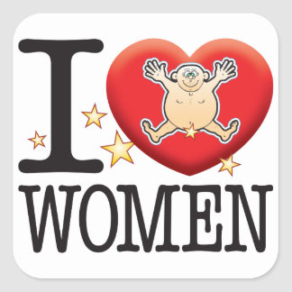 Women Love Man Square Sticker