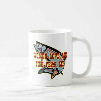 Women Love Me Fish Fear me Basic White Mug