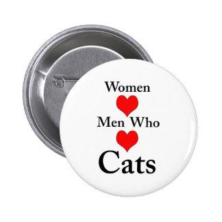 Women Love Men Who Love Cats Buttons