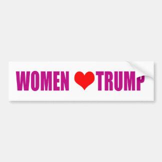 Women love Trump Women for Trump Bumper Sticker