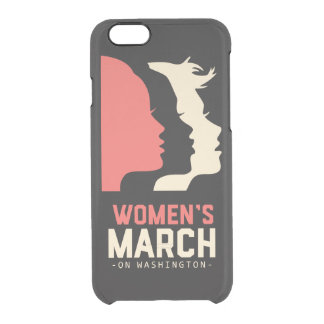 Women March On Washington T Shirt Clear iPhone 6/6S Case