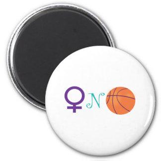 Women-N-Basketball 6 Cm Round Magnet