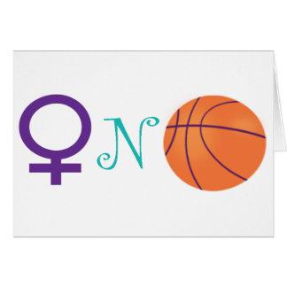 Women-N-Basketball Greeting Card