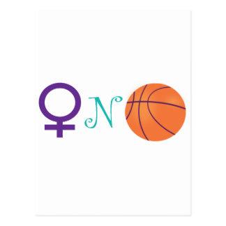Women-N-Basketball Postcard