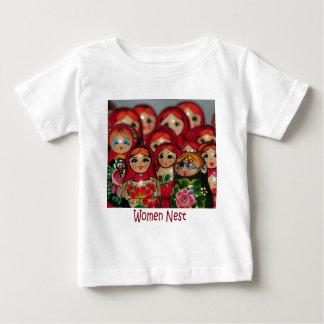 Women Nest, Russian Nesting Dolls Baby T-Shirt