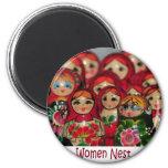Women Nest, Russian Nesting Dolls Fridge Magnets