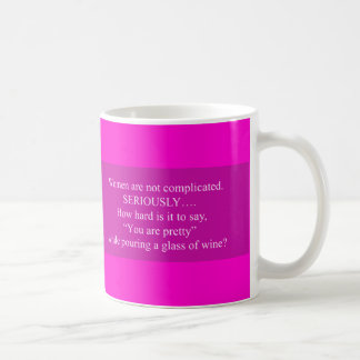 WOMEN NOT COMPLICATED FUNNY QUOTES SAYINGS YOU'RE BASIC WHITE MUG