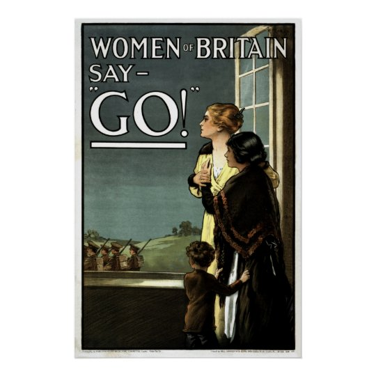 Women of Britain say GO vintage Poster