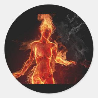 Women Of Fire Round Sticker