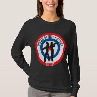 Women of High Caliber on Black T-Shirt