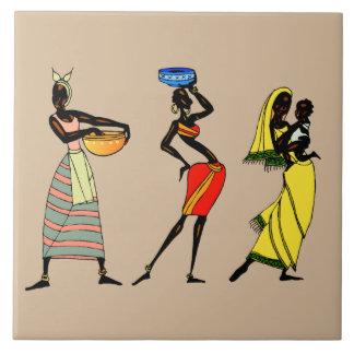 Women of Kenya animation Large Square Tile