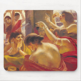 Women of Madura at a Fountain Mouse Mat