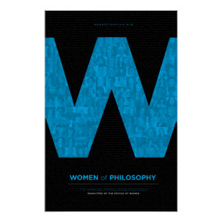 Women of Philosophy - Blue Poster