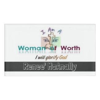 Women of Worth Name Badge