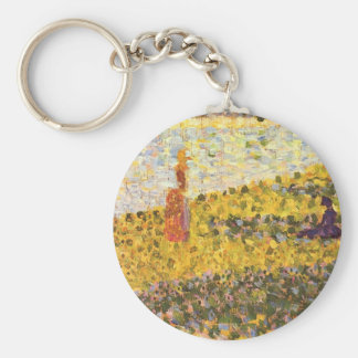 Women on the shore by Georges Seurat Keychain