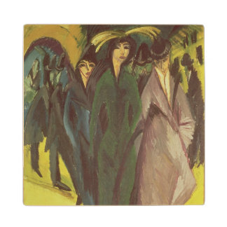 Women on the Street, 1915 Wood Coaster
