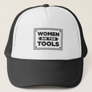 Women on the Tools box graphic Trucker Hat