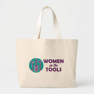 Women on the Tools logo Large Tote Bag