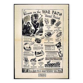 Women On The War Path Need Paint Flyer