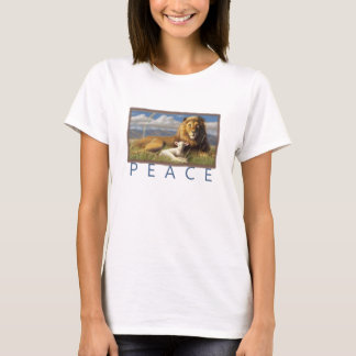 women Peace Lamb and Lion t shirt