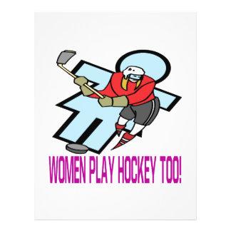 Women Play Hockey Too Custom Flyer