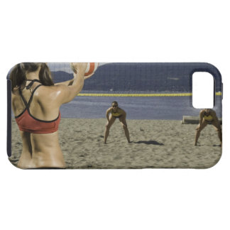 Women playing volleyball on beach iPhone 5 case