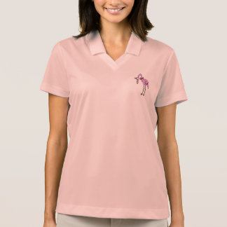 "Women Polo Shirt pink ""flamingo """
