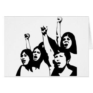 Women Power Greeting Card
