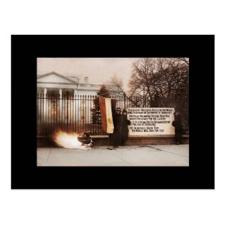 Women Protest at White House Postcard