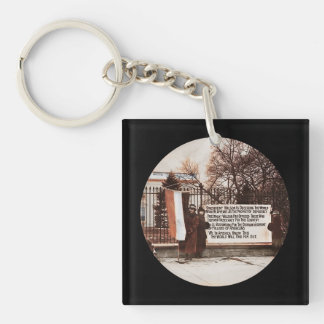 Women Protest Wilson at White House Single-Sided Square Acrylic Key Ring