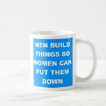 women put down coffee mugs