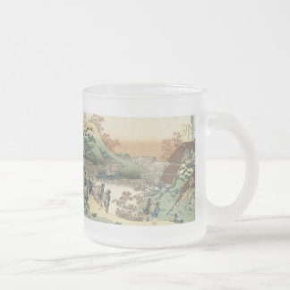 Women Returning Home at Sunset, Hokusai, 1835, ... Frosted Glass Mug