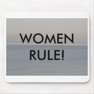 WOMEN RULE! MOUSE PAD