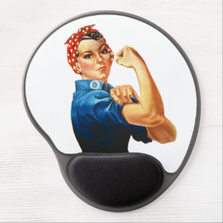 Women Rule We Can Do It Rosie Riveter WWII Gel Mouse Pad