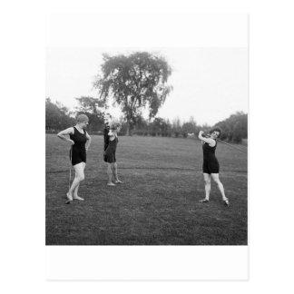 Women s 1920s Golf Fashion Postcard