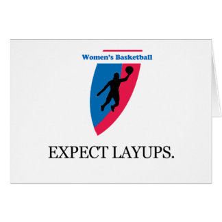Women s Basketball Greeting Card