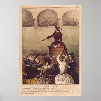 Women s Club c 1848 Poster