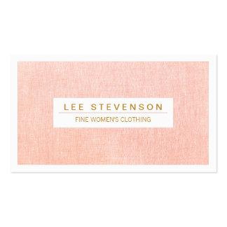 Women s Fashion Boutique Light Pink Feminine Business Card Template