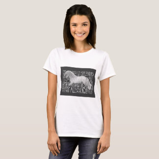 Women's grey horse tee shirt