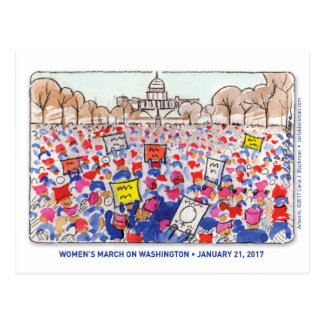 Women's March Postcard