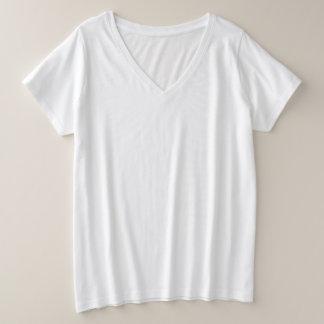 Women's Plus-Size V-Neck T-Shirt