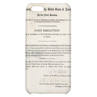 Women s Right to Vote- 19th Amendment Cover For iPhone 5C