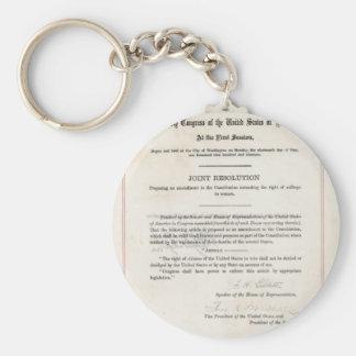 Women s Right to Vote- 19th Amendment Keychains