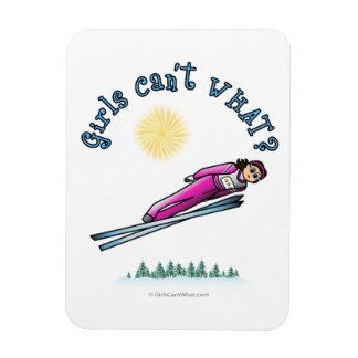 Women s Ski Jumping Flexible Magnet