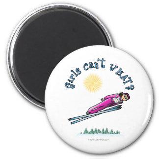 Women s Ski Jumping Fridge Magnet